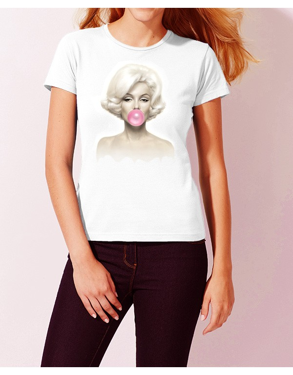 Camiseta Marilyn Monroe chicle