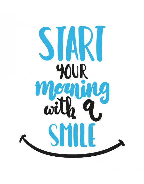 Camiseta mujer Start your morning with a smile
